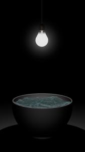 Gisbert Danberg, Wasserschale mit Glühbirne