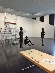 Gisbert Danberg im Kunsthaus Wiesbaden: Ausstellungsvorbereitung